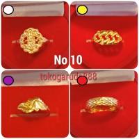 Cincin No 10 11 12 13 14 emas asli kadar 700 70% 22k 0.5 setengah gram