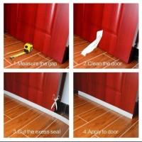 1.25meter. Penutup celah penahan debu bawah pintu. Warna Coklat
