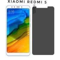 Tempered Glass Anti Spy XIAOMI REDMI 5 Privacy Screen Protector