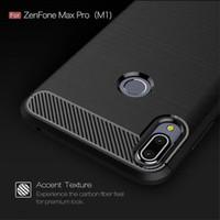 Asus Zenfone Max Pro M1 ZB601KL Carbon Fiber Slim Fit Soft Case