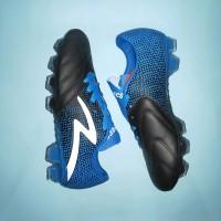 Sepatu Bola Specs Equinox FG Black Tulip Blue White olahraga