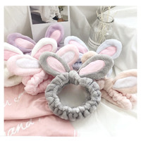 topi bandana korea model bunny bando ikat kepala make up cuci muka