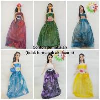 Mainan Anak Baju Boneka Barbie Brokat - Dress Party BROKAT Terlaris