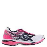 Sepatu Original Asics Gel Cumulus 18 - White Pink olahraga