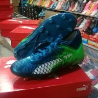 sepatu bola anak puma future 18.3 fg jr biru hijau top product