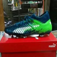 sepatu bola puma future 18.3 FT hijau biru olahraga sehat