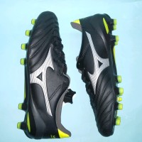 Sepatu Bola Mizuno Morelia Neo ll MD Black Silver Safety Yellow o
