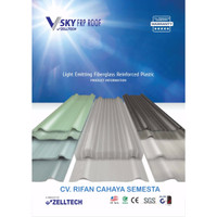 V-SKY FRP Roof / Atap Fiberglass / Atap Transparan