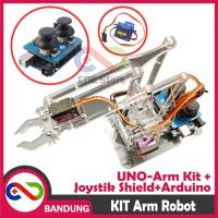 ROBOT ARM KIT PARTS UNOARM SHIELD FOR ARDUINO UNO JOYSTIK HAND GRIPPER