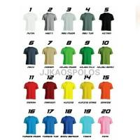 Size 4XL - Kaos polos cotton combed 20s