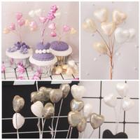 topper baloon kilap hiasan baking produk balon cute gliter