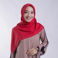 Zoya Kerudung Segi Empat Polos - Nov Scarf Warna Red