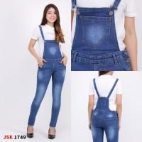 (27 - 30)Overall Jeans Wanita Jumpsuit Wearpack Kodok Cewek JSK JEANS