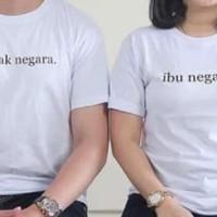 KAOS PAKAIAN BAJU T SHIRT DISTRO COUPLE BAPAK DAN IBU NEGARA