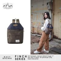 ORIGINAL ATVA FINCH NAVY-BROWN | Tas Ransel Wanita - Tas Ransel Mini