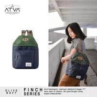 ORIGINAL ATVA FINCH OLIVE-NAVY | Tas Ransel Wanita - Tas Ransel Mini