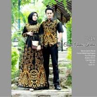 Baju couple 2549 gamis jumbo ld 120 batik mumer katun pekalongan