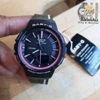 Jam Tangan Wanita Casio Baby-G BGS100SC Original Tali Rubber Hitam Lis