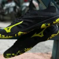 Sepatu Futsal Mizuno Basara 103 Sala - Black Safety Yellow Origi