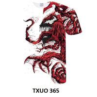 Hype Beast Kaos T-shirt ASSC Champ Eye Venom Marvel 3D Printed Import