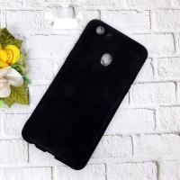 Case Oppo F5 Black Matte Anti Minyak Soft Hitam Soft Case
