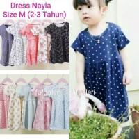Dress Nayla M (2-3 Tahun) Baju Dress Anak Perempuan