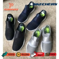 Sepatu Wanita Slip On Skechers Skecher Mojo Mania Knit Original