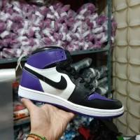 sepatu Nike aor Jordan 1 retro purple bw