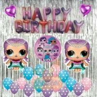 Paket Dekorasi Balon Ulang Tahun / Happy Birthday Tema LOL Surprise