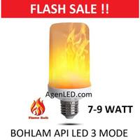 Lampu Bohlam Efek Api 7W LED Flame Effect Bulb Cafe 7 w watt e27 obor