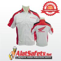 Baju Kerja Honda Krah Merah / Kemeja Seragam Honda FLP