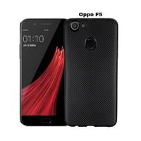 Oppo F5 (A73) Carbon Slim Silicone Softcase - Hitam