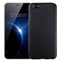 Oppo A39 (A57) Carbon Slim Silicone Softcase - Hitam