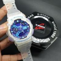 Jam Tangan Casio G-Shock / GShock GA 110 White Transparent Blue Ori BM