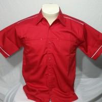 Kemeja Polos Seragam, Baju Kerja/Komunitas, American Drill Merah