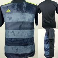 Baju Kaos Sepak Bola/Futsal Dri-Fit Print Dewasa Adidas Abu
