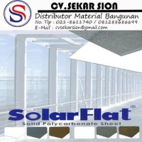 Atap Polycarbonate Solarflat Solid 3mm - Sekar Sion Limited