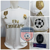 REAL MADRID HOME 2019 FULLPATCH UCL - Putih, S