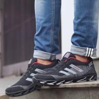 Adidas Spring Blade AX2 Black Grey red Running Shoes Man/Sepatu Lari