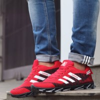 Adidas Spring Blade AX2 Red Black Running Shoes For Man/Sepatu Lari