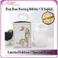 Dus Cantik + FREE 3 toples kue kering - white - Limited Edition
