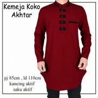 Baju Koko Akhtar/Kemeja koko/baju muslim pria terbaru/baju Koko muslim