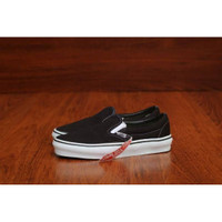 sepatu vans slip on tanpa tali simpel black white classic termurah neo