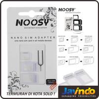 Sim Card Adapter Noosy 3 in 1 / Nano to Micro to Standard SIM - Putih