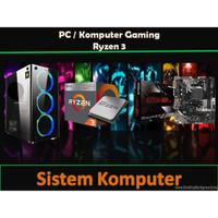 PAKET PC RAKITAN GAMING 9 Ryzen 3 3200G 8GB 120Gb Ssd + 500GB Hdd Wifi