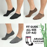 Kaos Kaki pria pendek hidden socks tebal invisible serat bambu asli