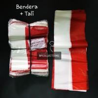 40lembar bendera plastik merah putih bendera tali