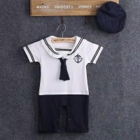 Baju bayi / Romper bayi / Jumper pelaut / baju sailor bayi