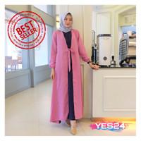 NEW !!! Gamis Syari Maxi Akira / Dress Muslim Arabian Crepe Premium