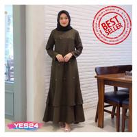 NEW !!! Gamis Syari Maxi Leza / Dress Muslim Arabian Crepe Premium
